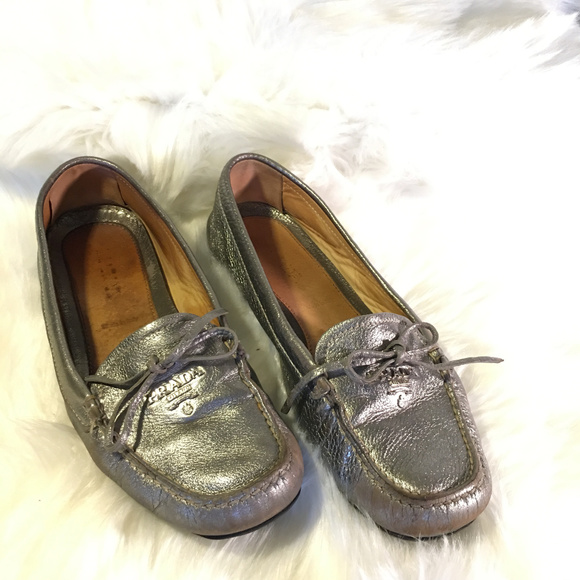 53b7992d086 coupon for prada unworn new prada red suede shoes loafers size 37.5 with silver  ring buckle d82de 788ec  official prada logo silver loafers size 38b 16787  ...